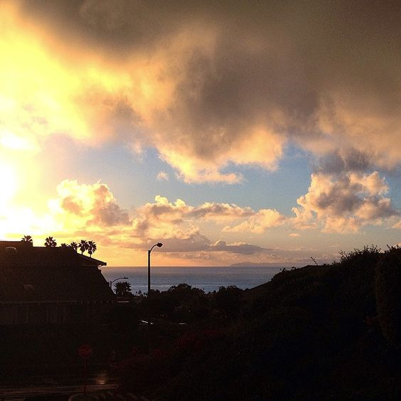 Beautiful Cloudy evening in San Clemente