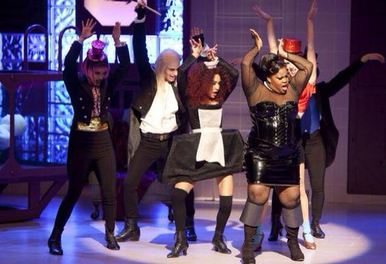 Naya Rivera as Magenta in Rocky Horror Glee