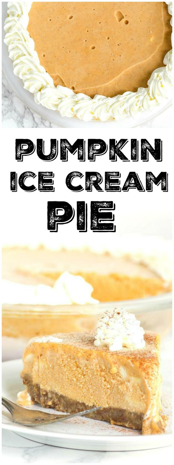... dessert recipes recipe ice desserts ice cream pies pumpkin ice cream