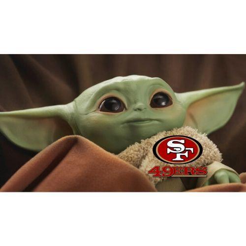 San Francisco 49ers Baby Yoda Flag Pink Beach Babe San Francisco 49ers San Francisco 49ers Football 49ers