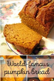 My Mother's Pumpkin Bread Recipe: Around the Harvest Table