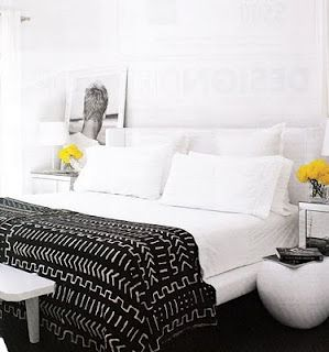Striking Mud cloth bedspread. | Black and White ...