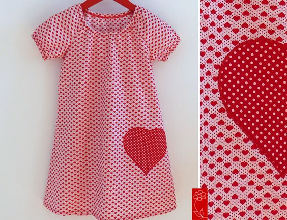 """Mädchenkleid """"Lotta"""" mit Herz von  katharina-meintke-kids - Lieblingssachen für Kinder auf DaWanda.com"""