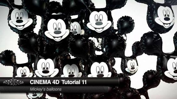 Cinema 4D Tutorial 11 Mickey's Balloons on Vimeo