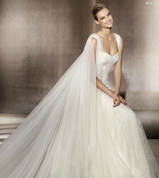 Satin the o 39 jays and lace on pinterest for Wedding dress with cape train
