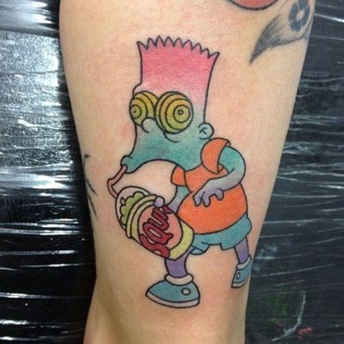 Tatuajes de los simpsons. | funnysize.com