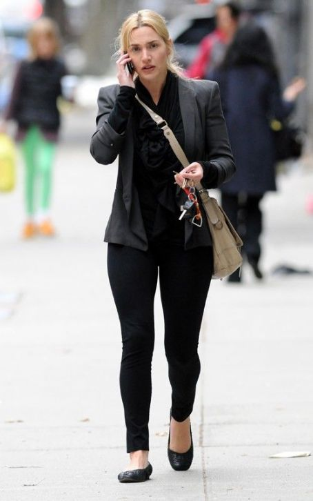 Kate Winslet casual. Uh, yep, Kate Winslet has an awesome sense of style.