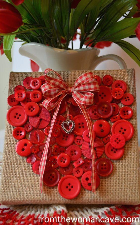des cœurs boutons