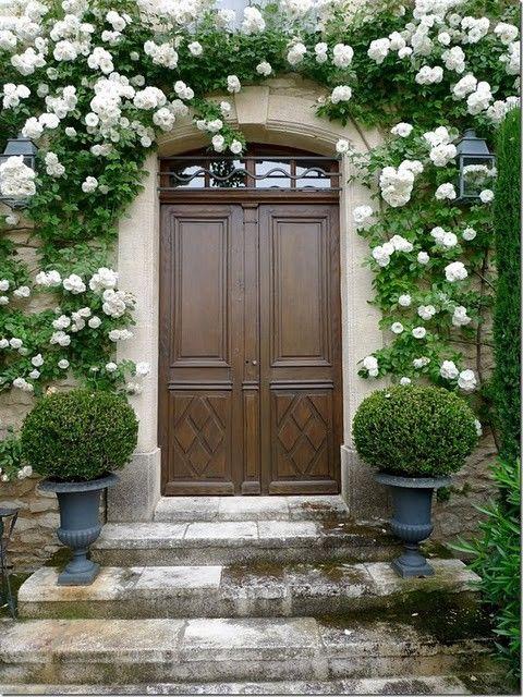 love the flowers around the door