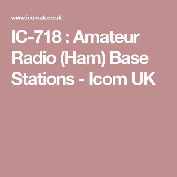 IC-718 : Amateur Radio (Ham) Base Stations - Icom UK