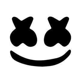 Marshmello Face Template