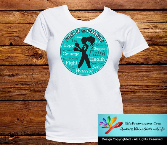 Peritoneal Cancer Fight Strong Motto T-Shirts