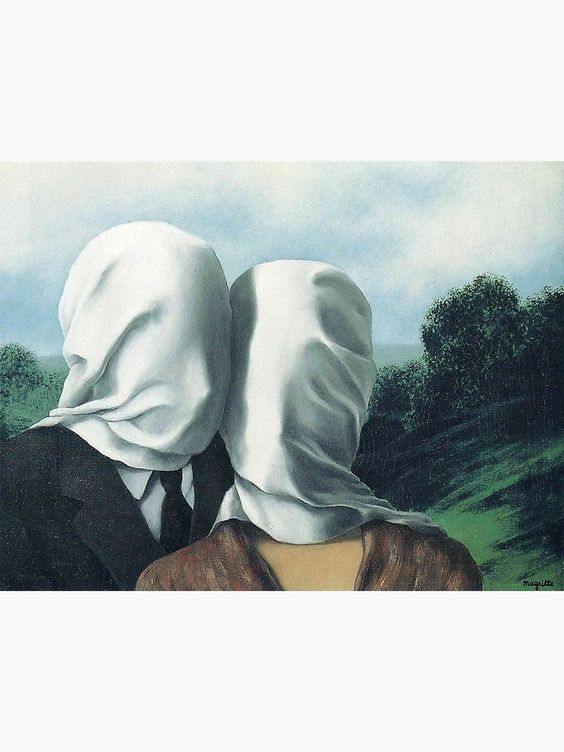 """René Magritte – The Lovers II"" Framed Art Print by przezajac 