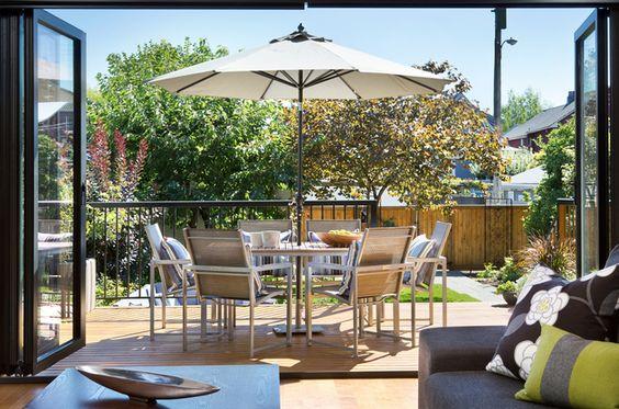 Indoor/outdoor space by Klondike Contracting via Homestars.