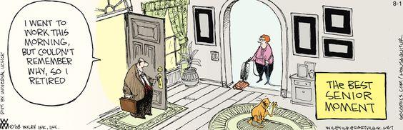 """Non Sequitur cartoon (August 1, 2012) """"The Best Senior Moment"""""""