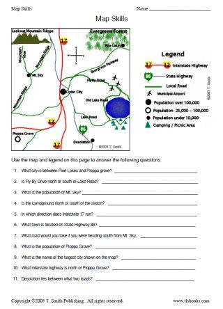 Worksheets Types Of Maps Worksheet types of maps worksheet and map skills pack social studies grades 2 5