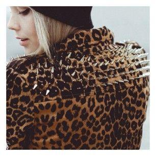 Leopard studded jacket  @mariaandamelia's Instagram photos | Webstagram - the best Instagram viewer