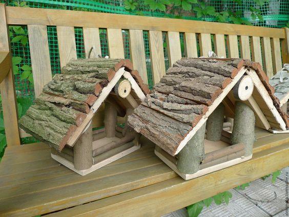 Купить Кормушка для птичек и белочек - кормушка, природа, природный стиль, русский стиль, экологичная игрушка