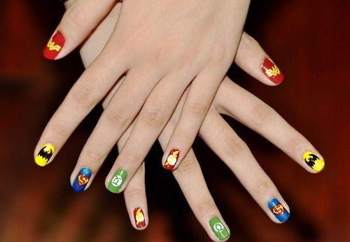 #nails #super #heroes