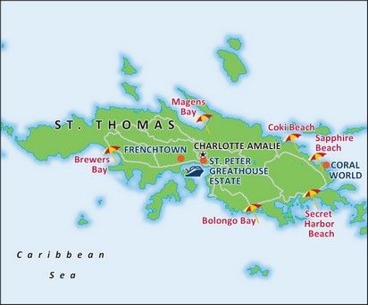 St Thomas Port Map Relax Take A Break From Planning The Vacation - Us cruise ports map