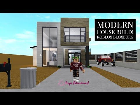 Modern House Build Roblox Bloxburg Youtube In 2020 With
