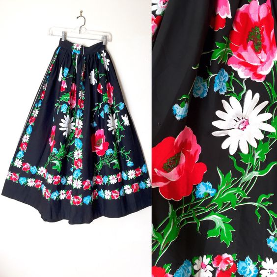 A personal favorite from my Etsy shop https://www.etsy.com/listing/251391143/vintage-50s-60s-mexican-hand-painted