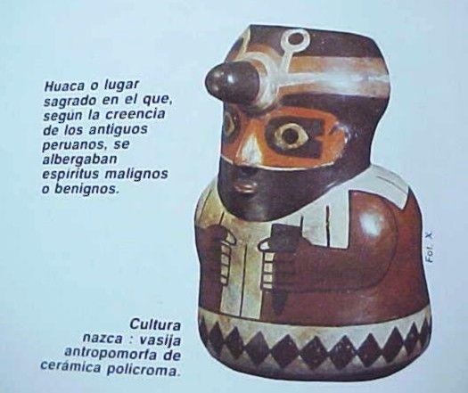Cultura Nazca. Vasija antropomorfa de cerámica. Perú