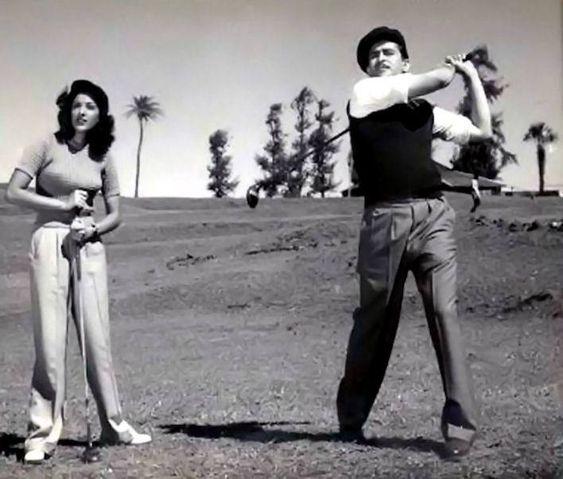 Image result for nargis and raj golf