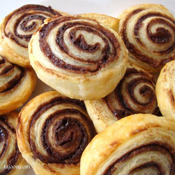 chocolate swirls recipe pastries dessert chocolate and puff pastries
