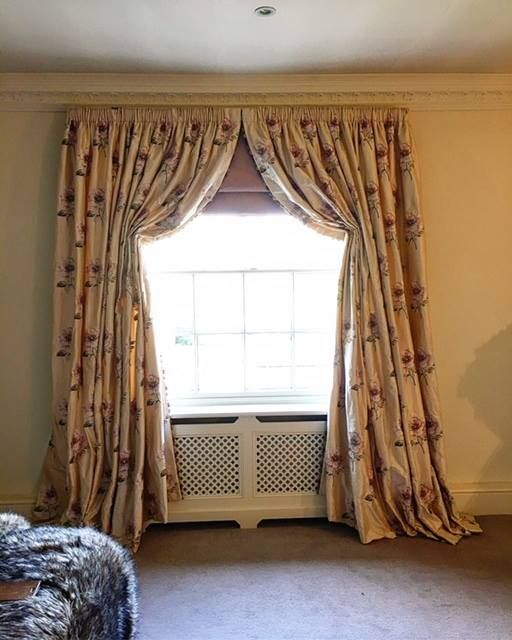 Italian Strung Dress Curtains With Working Roman Blind Behind By Jocelyn Interiors Drapes Curtains Curtains Interior