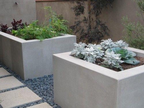 Pflanzkübel, Beton | Garden | Pinterest | Contemporary landscape ...