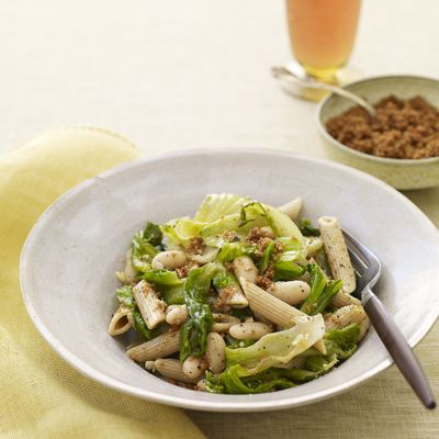 Penne with Escarole, White Beans, and Toasted Breadcrumbs