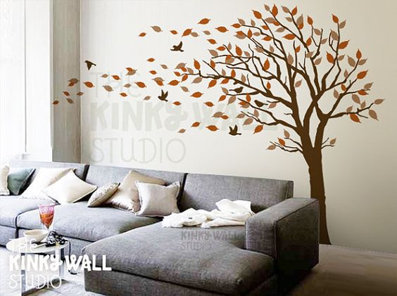 blowing tree wall decal bedroom wall decals wall sticker