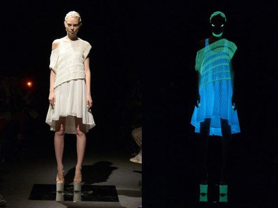【Johan Ku】Lighting Stripe Drape Dress