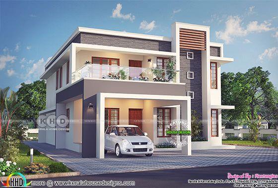Excellent Contemporary Kerala Home Design 2631 Sq Ft Kerala House Design New Model House House Gate Design