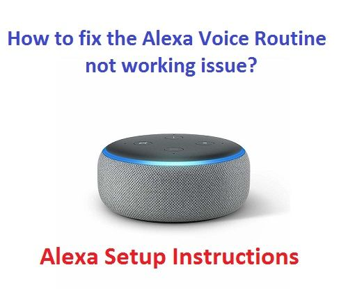 How To Fix The Alexa Voice Routine Not Working Issue Alexa Setup Alexa Voice Alexa App