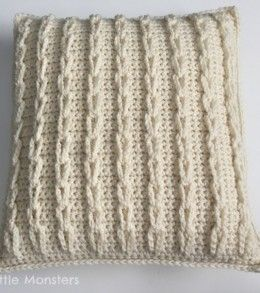 Not quite sewing but a really great crochet cable loop pillow