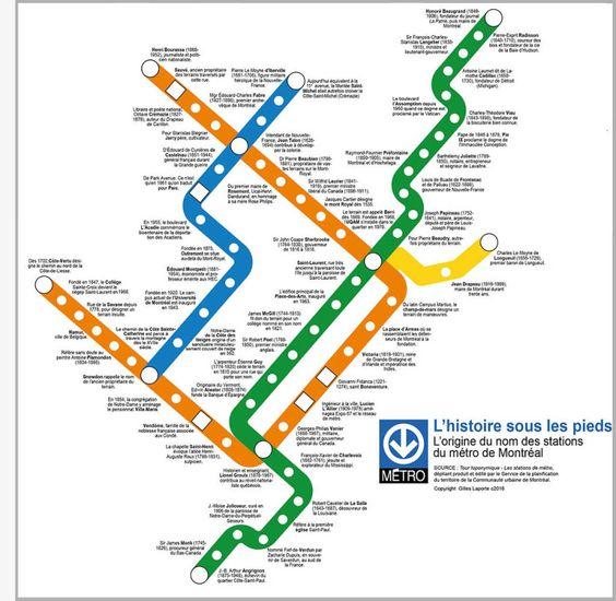 Montreal metro station map