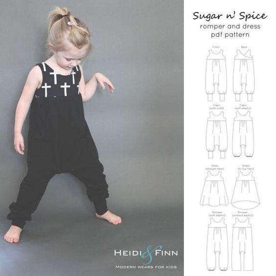 Sugar n Spice dress and romper pattern and von heidiandfinn auf Etsy