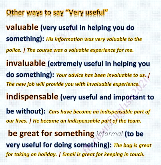 Other ways to say: Very Useful: