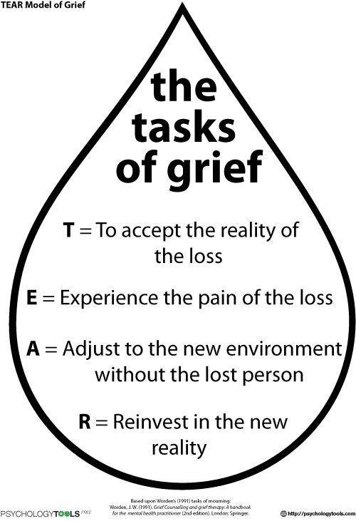 Tear Model Of Grief Cbt Worksheet Psychology Tools Beautytherapy Grief Worksheets Grief Counseling Grief Therapy