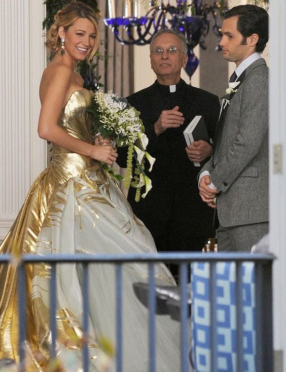 Dan and serena 39 s wedding gossip girl pinterest for Serena wedding dress gossip girl price