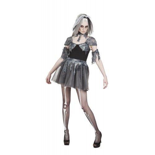 Gothic bride halloween jurk voor dame - Dames - Halloween Kleding Kostuums…