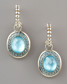 John Hardy  Batu Bedeg Topaz Drop Earrings