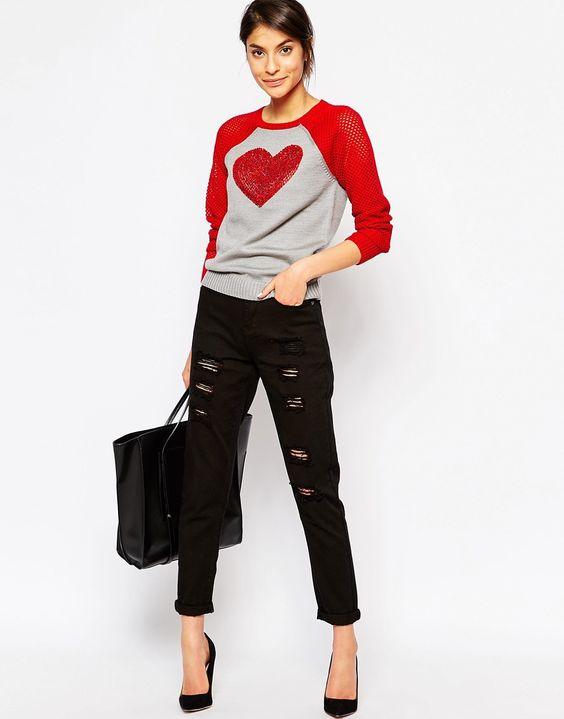 Bild 4 von Love Moschino – Pullover mit Pailletten-Herz
