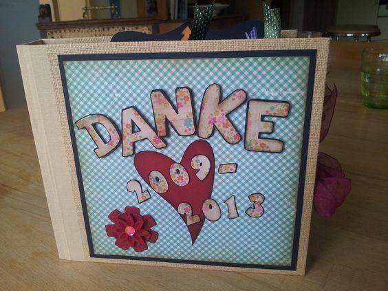 Ein Abschiedsgeschenk für die Grundschullehrerin. Jedes Kind hat eine Seite gestaltet und mit Texten versehen.