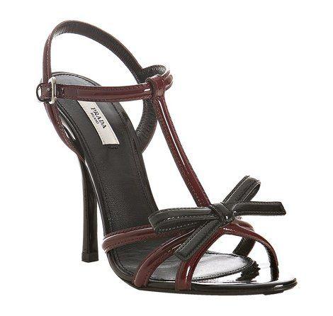 Prada Fall 2010 T-Strap Patent Sandals Photograph:
