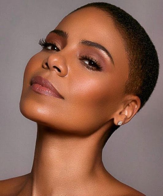 Pin By Total Beauty On Buzzcut Twa Natural Hair Styles Makeup For Black Women Short Hair Styles