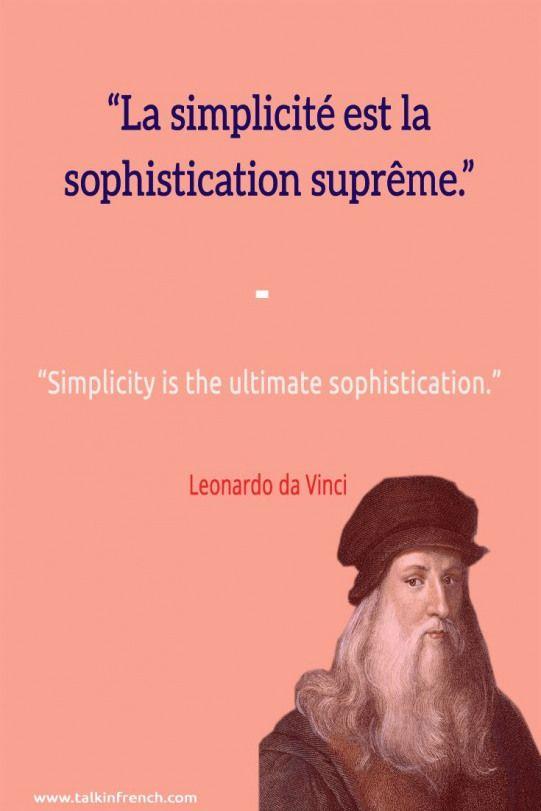 La Simplicité Est La Sophistication Suprême : simplicité, sophistication, suprême, Simplicité, Sophistication, Suprême.