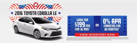 Don't miss this great Russ Darrow Toyota lease special